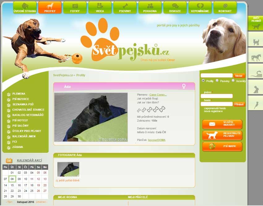 Světpejsků.cz - profil pes