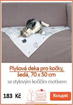 Plyšová deka pro kočky