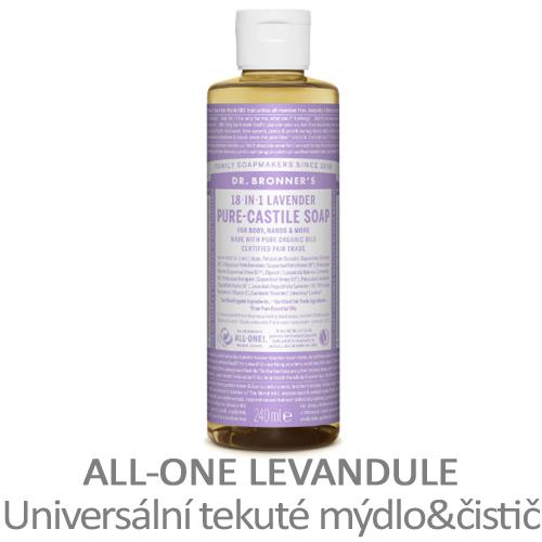 ALL-ONE Levandule, universální tekuté mýdlo a čistič