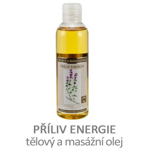 Příliv energie - tělový a masážní olej
