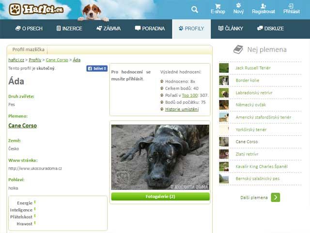 Hafíci.cz - profil psa