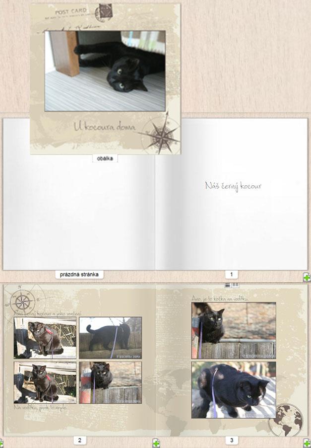 Fotokniha z vlastních fotek, s textem
