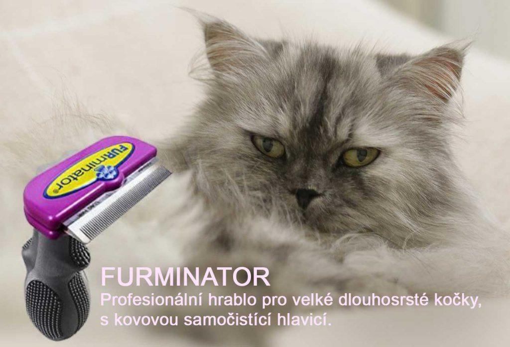 Furminátor pro dlouhosrsté kočky