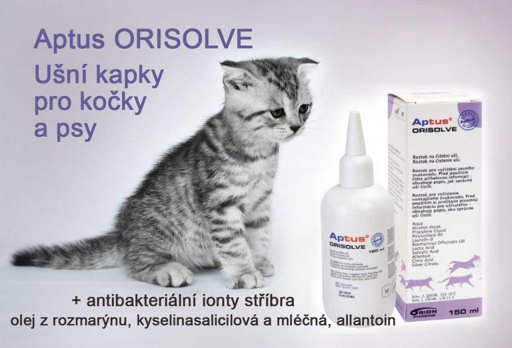 Ušní kapky Orisolve Vet pro kočky a psy