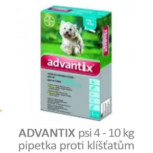 Advantix - pipetka pro psi 4 - 10 kg proti klíšťatům