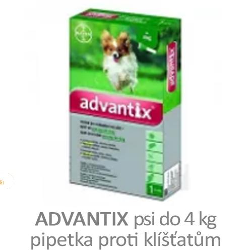 Advantix - pipetka pro psi do 4 kg proti klíšťatům