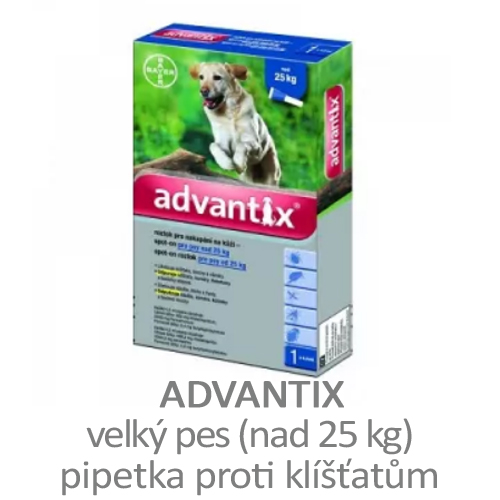 Pipetka proti klíšťatům pro velké psy Advantix