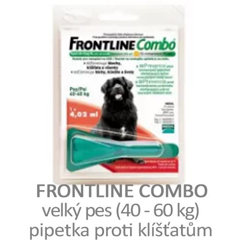 Pipetka proti klíšťatům Frontline Combo velký pes