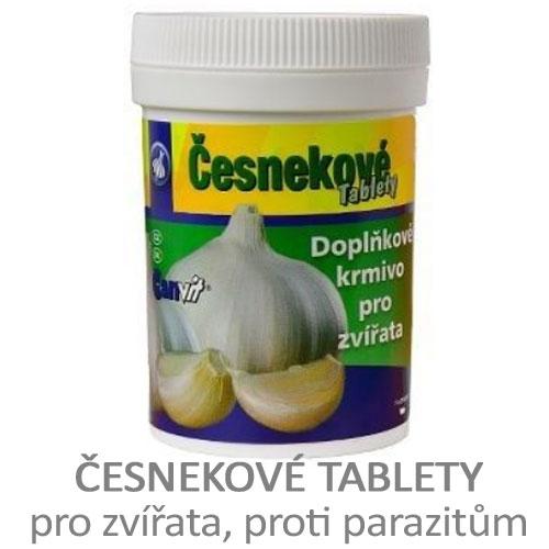 Česnekové tablety pro zvířata, pivovarské kvasnice