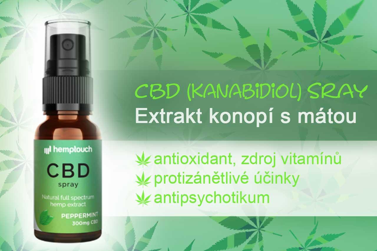CBD sprej (kanabidiol)