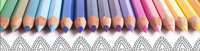 Antistresové omalovánky - ilustrační obrázek