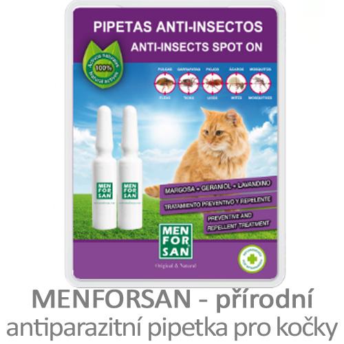 Přírodní antiparazitní pipeta pro kočky