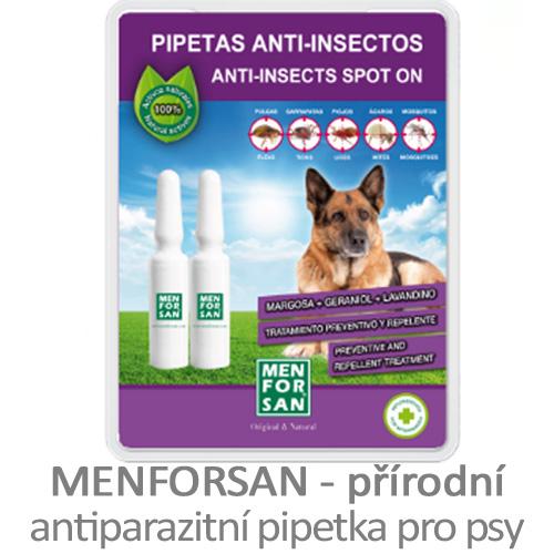 Přírodní antiparazitní pipetka pro psy