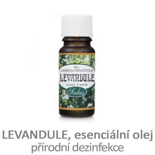 Esenciální olej levandule, přírodní dezinfekce