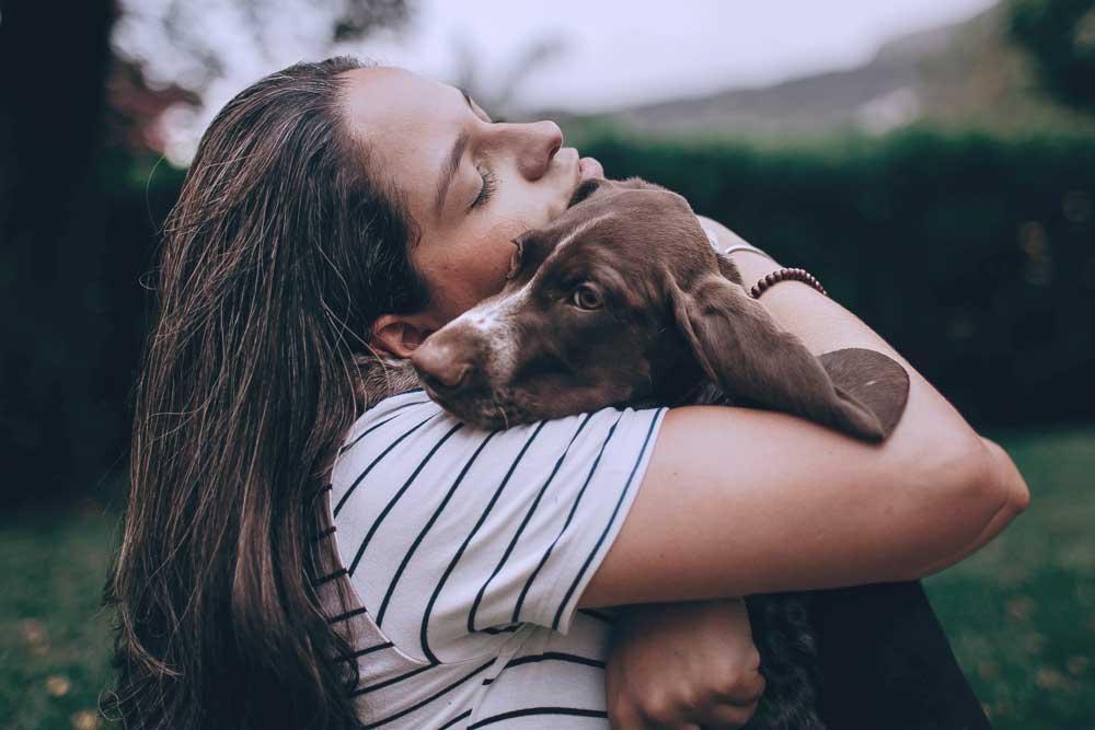 Žena a pes