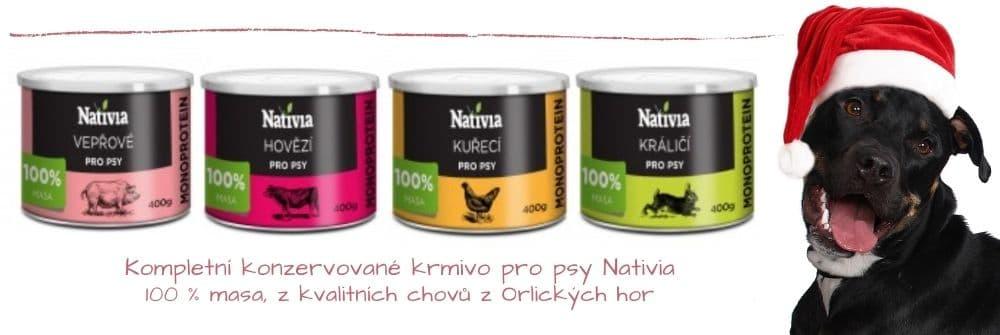 Konzervy pro psy Nativia